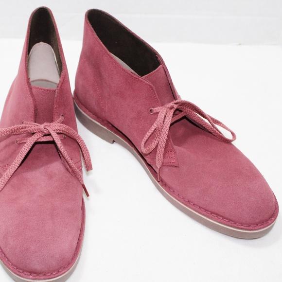 b9d48d2e1d25c Clarks Shoes | Clark Wine Bushacre 2 Suede Desert Chukka Boots ...